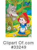 Royalty-Free (RF) Little Red Riding Hood Clipart Illustration #33249