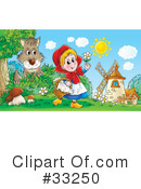 Royalty-Free (RF) Little Red Riding Hood Clipart Illustration #33250