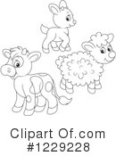 Livestock Clipart #1229228 by Alex Bannykh