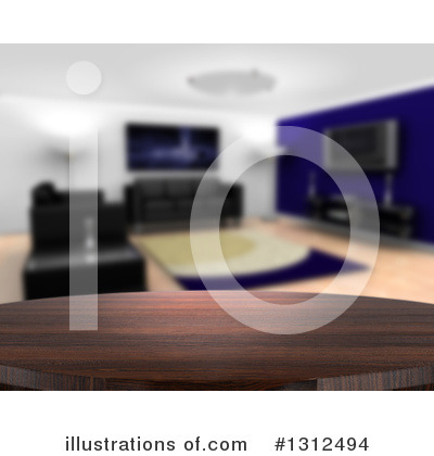 Royalty-Free (RF) Living Room Clipart Illustration by KJ Pargeter - Stock Sample #1312494
