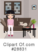 Royalty-Free (RF) living room Clipart Illustration #28831