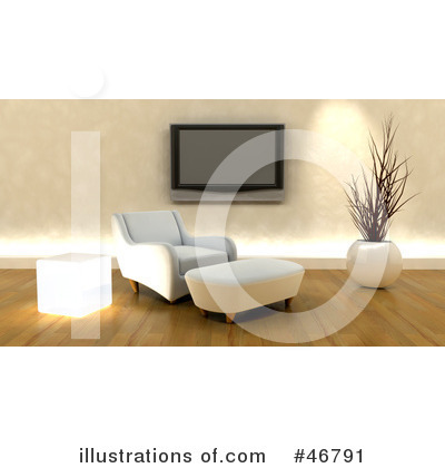 Royalty-Free (RF) Living Room Clipart Illustration by KJ Pargeter - Stock Sample #46791