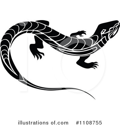 Lizard Clipart #1108755 by Vector Tradition SM