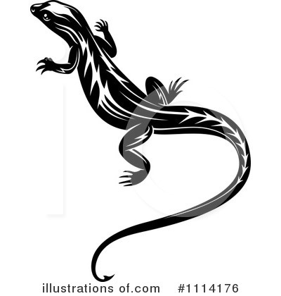 Lizard Clipart #1114176 by Vector Tradition SM