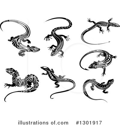 Lizard Clipart #1301917 by Vector Tradition SM