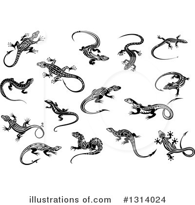 Lizard Clipart #1314024 by Vector Tradition SM