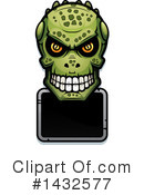 Royalty-Free (RF) Lizardman Skull Clipart Illustration #1432577