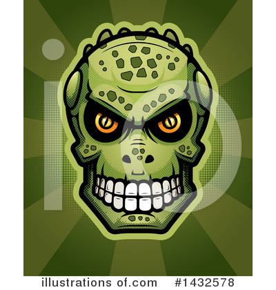 Lizardman Skull Clipart #1432578 by Cory Thoman
