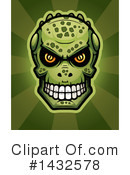 Royalty-Free (RF) Lizardman Skull Clipart Illustration #1432578