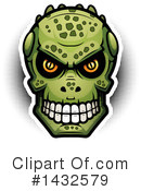 Royalty-Free (RF) Lizardman Skull Clipart Illustration #1432579