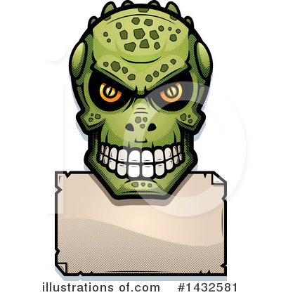 Royalty-Free (RF) Lizardman Skull Clipart Illustration by Cory Thoman - Stock Sample #1432581