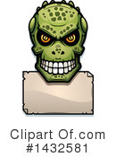 Royalty-Free (RF) Lizardman Skull Clipart Illustration #1432581