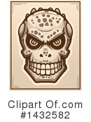 Royalty-Free (RF) Lizardman Skull Clipart Illustration #1432582