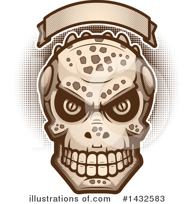 Royalty-Free (RF) Lizardman Skull Clipart Illustration by Cory Thoman - Stock Sample #1432583