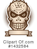 Royalty-Free (RF) Lizardman Skull Clipart Illustration #1432584