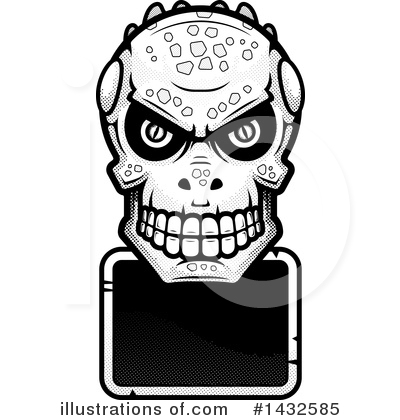 Lizardman Skull Clipart #1432585 by Cory Thoman