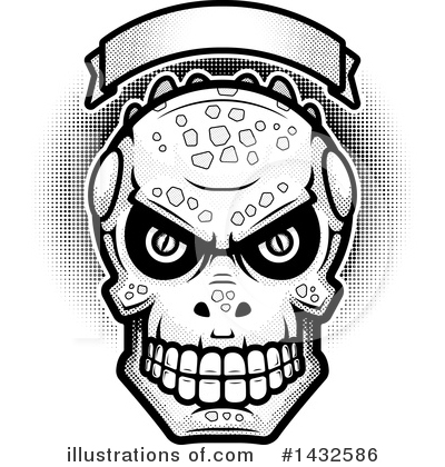 Lizardman Skull Clipart #1432586 by Cory Thoman