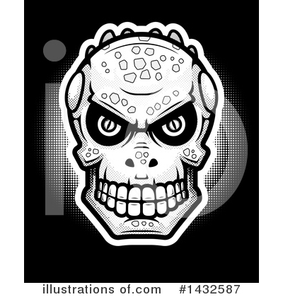 Royalty-Free (RF) Lizardman Skull Clipart Illustration by Cory Thoman - Stock Sample #1432587