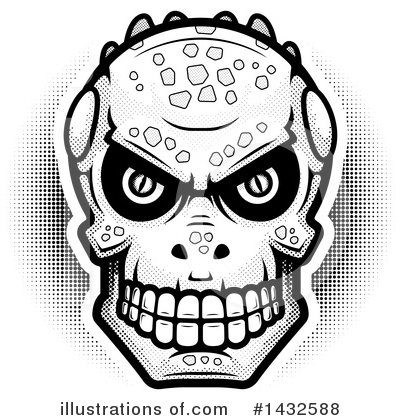 Lizardman Skull Clipart #1432588 by Cory Thoman