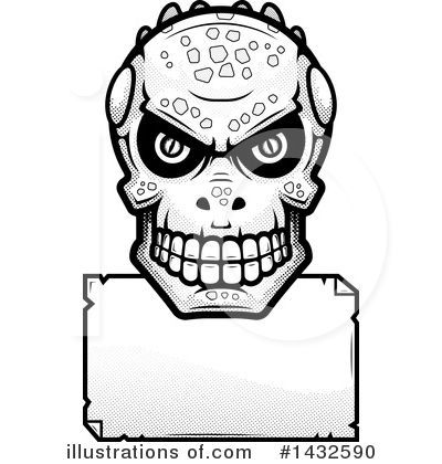 Lizardman Skull Clipart #1432590 by Cory Thoman
