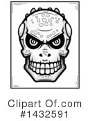 Royalty-Free (RF) Lizardman Skull Clipart Illustration #1432591