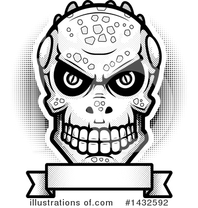 Lizardman Skull Clipart #1432592 by Cory Thoman