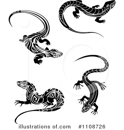 Lizard Clipart #1108726 by Vector Tradition SM