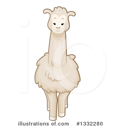 Llama Clipart #1332280 by BNP Design Studio