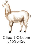 Royalty-Free (RF) Llama Clipart Illustration #1535426