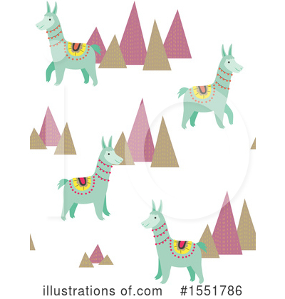 Royalty-Free (RF) Llama Clipart Illustration by Cherie Reve - Stock Sample #1551786