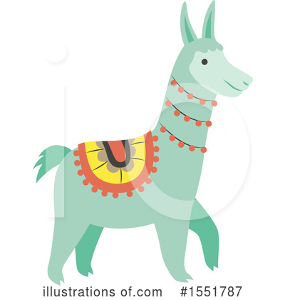 Llama Clipart #1551787 by Cherie Reve