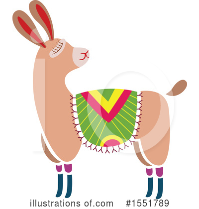 Royalty-Free (RF) Llama Clipart Illustration by Cherie Reve - Stock Sample #1551789