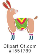 Royalty-Free (RF) Llama Clipart Illustration #1551789