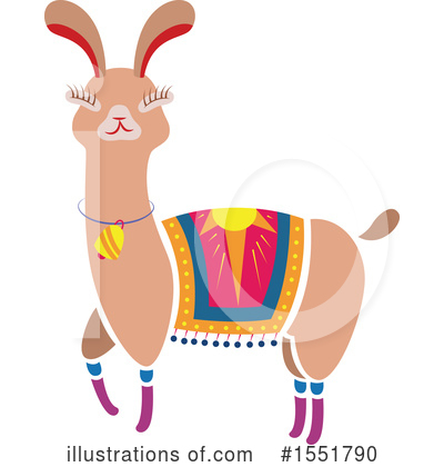Llama Clipart #1551790 by Cherie Reve