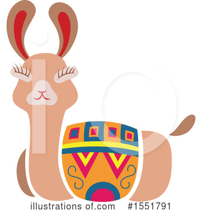 Llama Clipart #1551791 by Cherie Reve