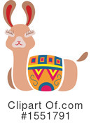 Royalty-Free (RF) Llama Clipart Illustration #1551791