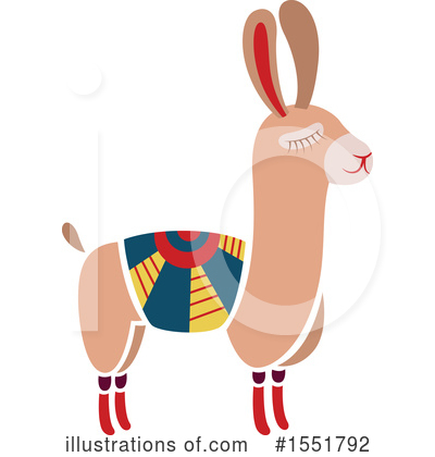 Llama Clipart #1551792 by Cherie Reve