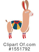 Royalty-Free (RF) Llama Clipart Illustration #1551792
