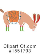 Royalty-Free (RF) Llama Clipart Illustration #1551793