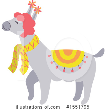 Llama Clipart #1551795 by Cherie Reve