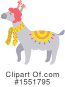 Royalty-Free (RF) Llama Clipart Illustration #1551795