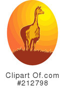 Royalty-Free (RF) llama Clipart Illustration #212798