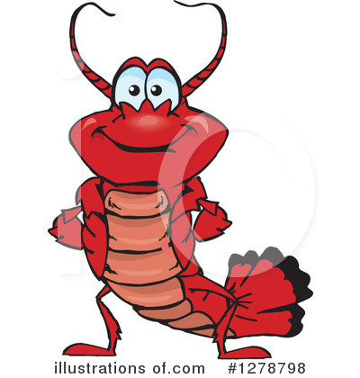 Lobster Clipart #1278798 by Dennis Holmes Designs