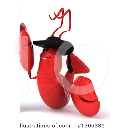 Royalty-Free (RF) Lobster Clipart Illustration by Julos - Stock Sample #1305339