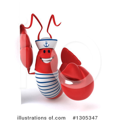 Sailor Lobster Clipart #1305347 by Julos