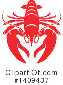 Lobster Clipart #1409437 by Vector Tradition SM