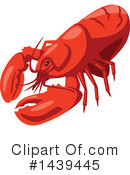 Lobster Clipart #1439445 by Vector Tradition SM