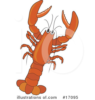 Royalty-Free (RF) Lobster Clipart Illustration by Maria Bell - Stock Sample #17095