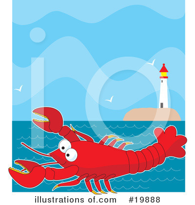 Lobster Clipart #19888 by Maria Bell