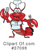 Lobster Clipart #37096 by Dennis Holmes Designs